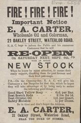 Advert For E. A. Carter, Soap Seller